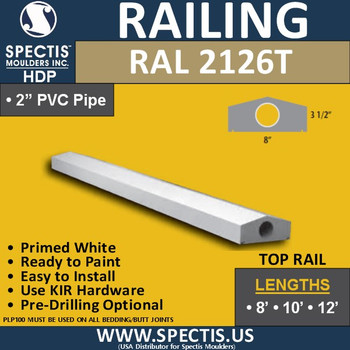 """RAL2126T 8"""" Wide x 12' Long Top Hand Railing"""