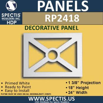 "RP2418 Decorative Raised Panel 1 3/8""P X 18""H X 24""W"