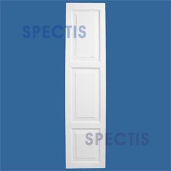 SHP-3 1677 Polyurethane Exterior Shutters - 3 Raised Panels 16 x 77