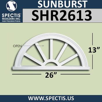 "SHR2613 Sunburst 1 3/8""P X 26""W X 13""H"