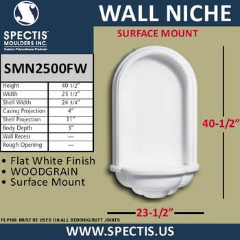 "SMN2500FW Surface Mount Wall Niche 23 1/2"" x 40 1/2"""
