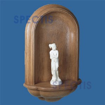 SMN2500S Spectis Surface Mount Stained Woodgrain Wall Niche