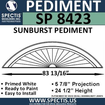 "SP8423 Sunburst Pediment 85 3/16"" x 24 1/2"""