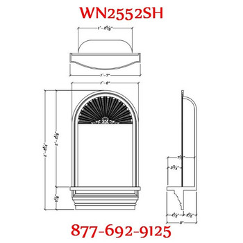 WN2552SH Spectis In-Wall Niche with Shell Top