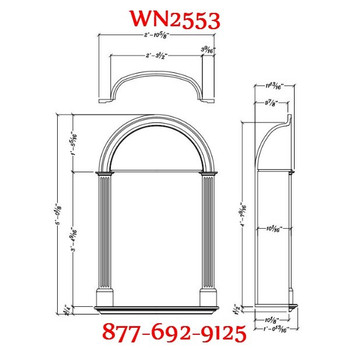 WN2553 Spectis In-Wall Niche Smooth Flat White Finish