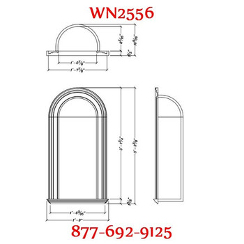 WN2556 Spectis In-Wall Niche Flat White Finish
