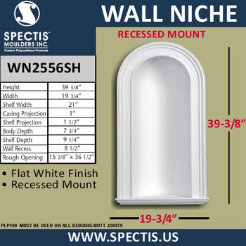 "WN2556 In-Wall Niche Flat White Finish 19 3/4"" x 39 3/8"""