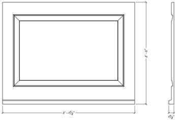 "WP3229S Decorative Panel 32 5/8""W X 29""H x 1 1/2""D"