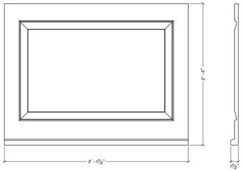 "WP3729S Decorative Panel 37 1/2"" x 29"" x 1 1/2"""