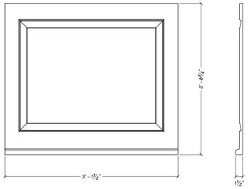 """WP3732S Decorative panel 37 1/2"""" x 32 3/4"""""""