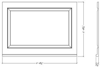 """WP4432S Decorative Panel 44 1/2"""" x 32 3/4"""""""
