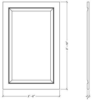 "WP4630 Decorative Panel 46"" x 30"""