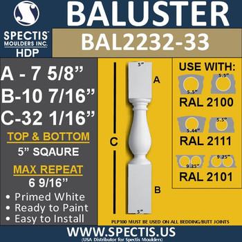 "BAL2232-33 Spectis Urethane Railing Baluster 5"" x 32 1/16"""
