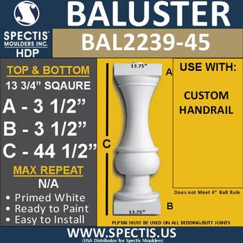 """BAL2239-45 Extra Large Urethane Baluster 13 3/4"""" x 44 1/2"""""""
