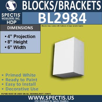 "BL2984 Eave Block or Bracket 6""W x 8""H x 4"" P"