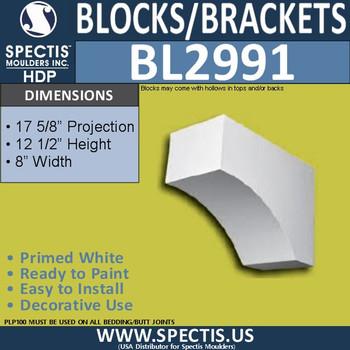 "BL2991 Eave Block or Bracket 8""W x 12.5""H x 17.63"" P"