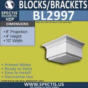 "BL2997 Eave Block or Bracket 10""W x 4""H x 8"" P"
