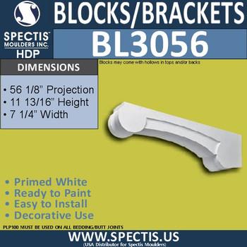 "BL3056 Eave Block or Bracket 7.25""W x 11 13/16""H x 56 1/8"" P"