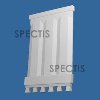 """BL3067 Spectis Eave Block or Bracket 16.88""""W x 25.75""""H x 1.13"""" Projection"""