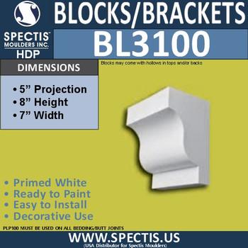 "BL3100 Eave Block-Bracket 7""W x 8""H x 5"" P"