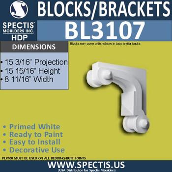 "BL3107 Eave Block or Bracket 8.69""W x 16""H x 26.33"" P"