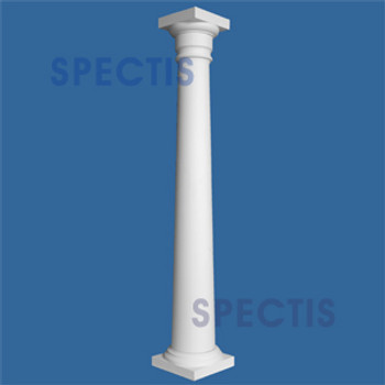 """CLM100-12-10S Smooth Tapered Column 12"""" x 120"""" STRUCTURAL"""