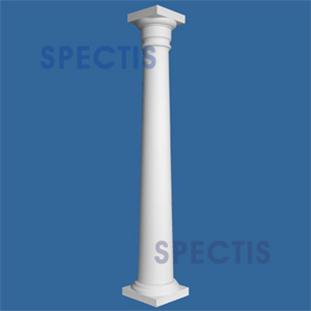 """CLM100-16-10 Smooth Tapered Column 16"""" x 120"""""""