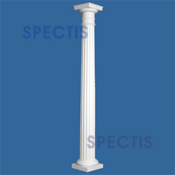 """CLM200-8-10 Fluted Tapered Column 8"""" x 120"""""""