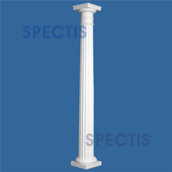 """CLM200-12-10S Fluted Tapered Column 12"""" x 120"""" STRUCTURAL"""