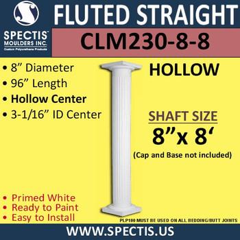 "CLM230-8-8 Fluted Straight Column 8"" x 96"""