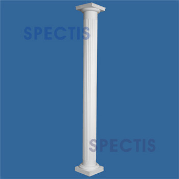 """CLM230-8-8S Fluted Straight Column 8"""" x 96"""" STRUCTURAL"""