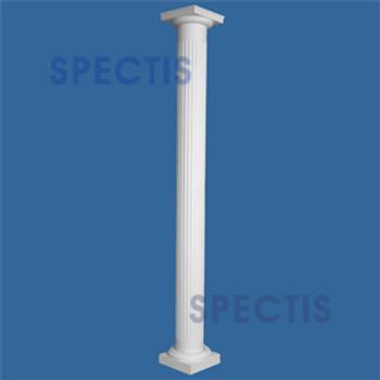"CLM230-14-10 Fluted Straight Column 14"" x 120"""