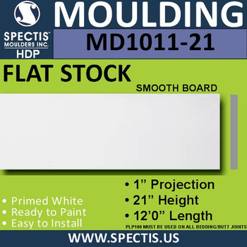 """MD1011-21 Spectis 1"""" Flat Trim 1""""P x 21""""H x 144""""L"""