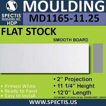 """MD1165-11.25 Spectis 2"""" Flat Trim 2""""P x 11.25""""H x 144""""L"""