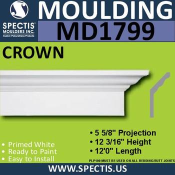 MD1799 Crown Molding Trim decorative spectis urethane