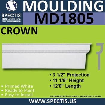 MD1805 Crown Molding Trim decorative spectis urethane