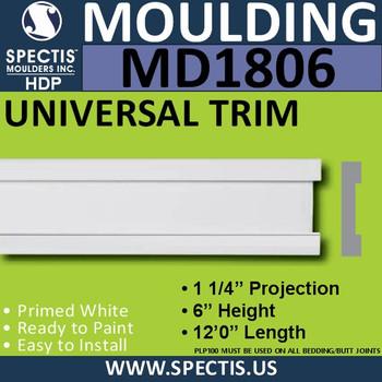 MD1806 Universal Molding Trim decorative spectis urethane
