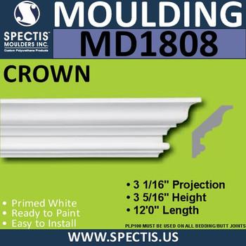 MD1808 Crown Molding Trim decorative spectis urethane
