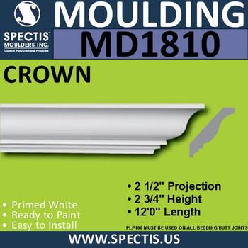 MD1810 Crown Molding Trim decorative spectis urethane