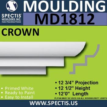 MD1812 Crown Molding Trim decorative spectis urethane