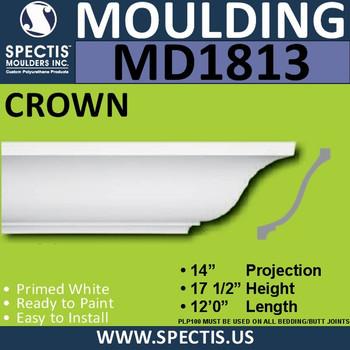 MD1813 Crown Molding Trim decorative spectis urethane
