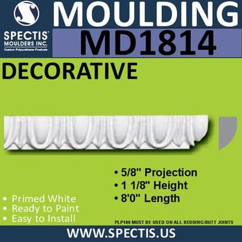 MD1814 Decorative Molding Trim spectis urethane