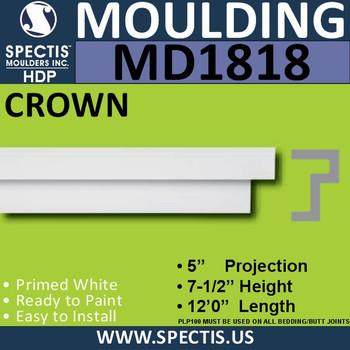 MD1818 Crown Molding Trim decorative spectis urethane