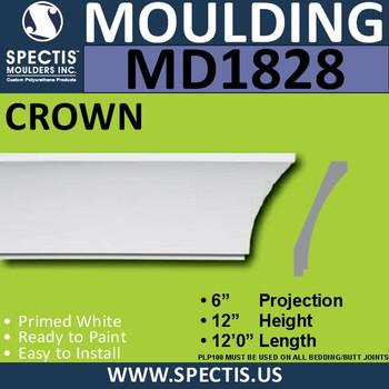 MD1828 Crown Molding Trim decorative spectis urethane