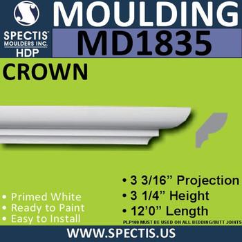 MD1835 Crown Molding Trim decorative spectis urethane
