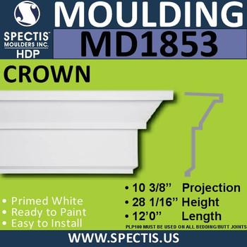 MD1853 Crown Molding Trim decorative spectis urethane