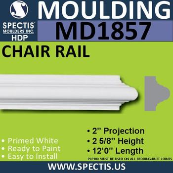 MD1857 Chair Rail Molding Trim decorative spectis urethane