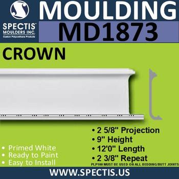 MD1873 Crown Molding Trim decorative spectis urethane