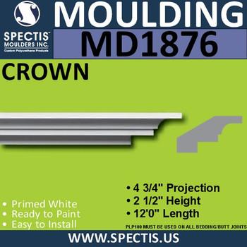 MD1876 Crown Molding Trim decorative spectis urethane