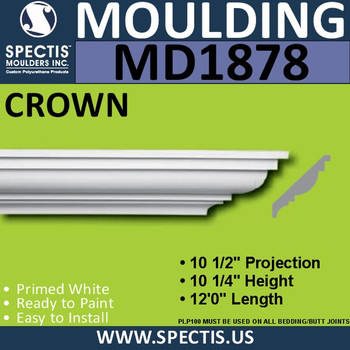 MD1878 Crown Molding Trim decorative spectis urethane